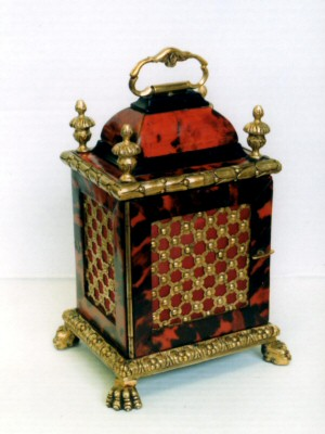 18thC Tortoise Veneered Clock Case
