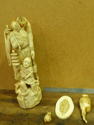 Restoration of an Ivory Figure - Before